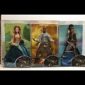 Disney A Wrinkle in Time 3 Barbie Dolls Oprah